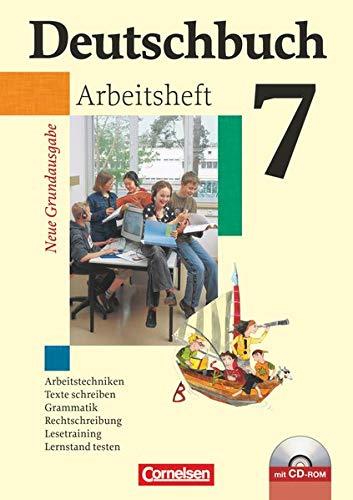 9783060609604: Deutschbuch 7. Schuljahr. Arbeitsheft mit Losungen und CD-ROM. Neue Grundausgabe