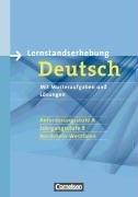 9783060609864: Lernstandserhebung Deutsch, Nordrhein-Westfalen : Jahrgangsstufe 8, Anforderungsstufe A, 2008