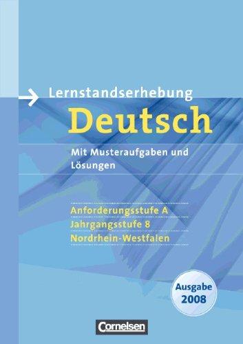 9783060610006: Lernstandserhebung Deutsch. Anforderungsstufe A. Jahrgangsstufe 8. Nordrhein-Westfalen 2008
