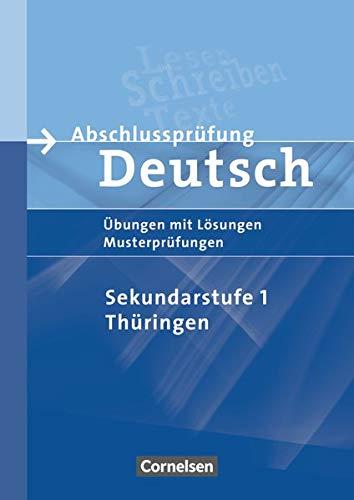 9783060612765: Abschlussprüfung Deutsch. 10. Schuljahr - Arbeitsheft mit Lösungen. Sekundarstufe I. Thüringen