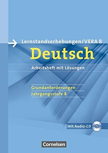 9783060618828: Vorbereitungsmaterialien für VERA - Deutsch. 8. Schuljahr. Grundanforderungen A. Arbeitsheft mit Lösungen und Hör-CD