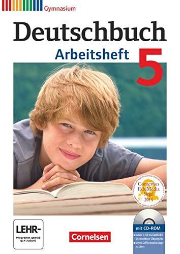 9783060619139: Deutschbuch 5. Schuljahr. Arbeitsheft mit Lösungen und Übungs-CD-ROM. Gymnasium Allgemeine Ausgabe