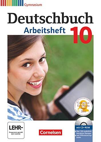 9783060619184: Deutschbuch Gymnasium 10. Schuljahr - Allgemeine Ausgabe - Arbeitsheft mit Lösungen und Übungs-CD-ROM