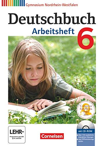 9783060620364: Deutschbuch 6. Schuljahr. Arbeitsheft mit Lösungen und Übungs-CD-ROM. Gymnasium Nordrhein-Westfalen