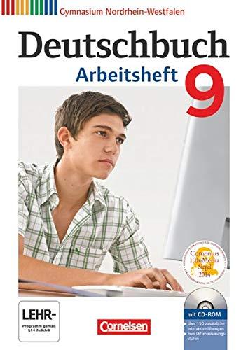 9783060620395: Deutschbuch 9. Schuljahr. Arbeitsheft mit Lösungen und Übungs-CD-ROM. Gymnasium Nordrhein-Westfalen