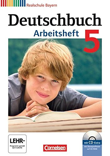 9783060624430: Deutschbuch 5. Jahrgangsstufe. Arbeitsheft mit Lösungen und Übungs-CD-ROM. Realschule Bayern