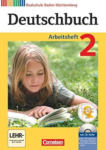 9783060624676: Deutschbuch 02: 6. Schuljahr. Arbeitsheft mit Lösungen und Übungs-CD-ROM. Realschule Baden-Württemberg
