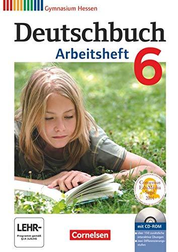 9783060624782: Deutschbuch 6. Schuljahr. Arbeitsheft mit Lösungen und Übungs-CD-ROM. Gymnasium Hessen