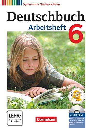 9783060624942: Deutschbuch 6. Schuljahr. Arbeitsheft mit Lösungen und Übungs-CD-ROM. Gymnasium Niedersachsen