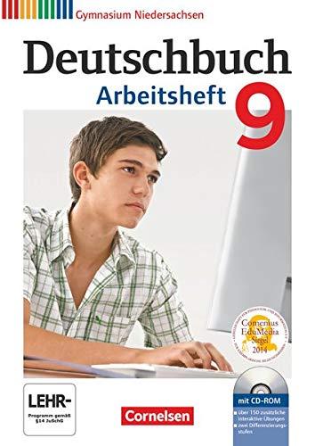 9783060624973: Deutschbuch 9. Schuljahr. Arbeitsheft mit Lösungen und Übungs-CD-ROM. Gymnasium Niedersachsen