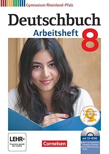 9783060625154: Deutschbuch Gymnasium 8. Schuljahr. Arbeitsheft mit Lösungen und Übungs-CD-ROM. Rheinland-Pfalz