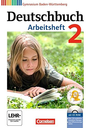 9783060626502: Deutschbuch Baden-wurttemberg: Arbeitsheft 2 MIT Ubungs-cd-rom