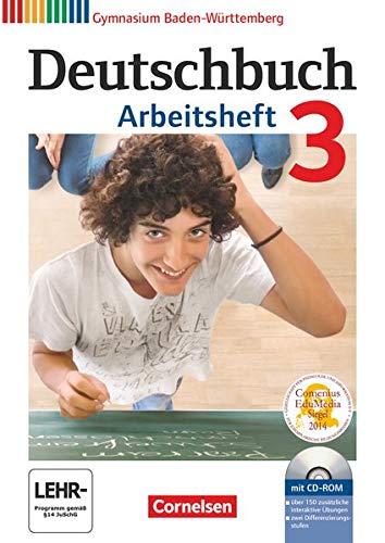9783060626519: Deutschbuch Gymnasium 3: 7. Schuljahr. Arbeitsheft mit Lösungen und Übungs-CD-ROM. Baden-Württemberg