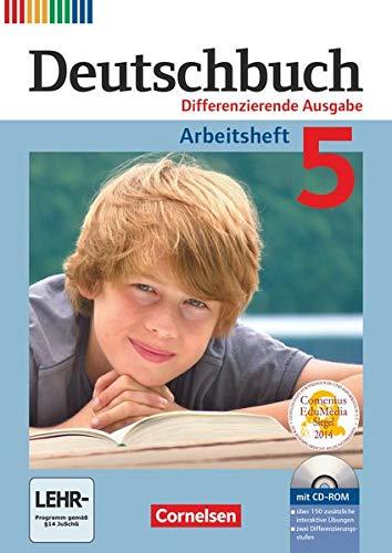 9783060626793: Deutschbuch 5. Schuljahr. Arbeitsheft mit Lösungen und Übungs-CD-ROM. Differenzierende Ausgabe