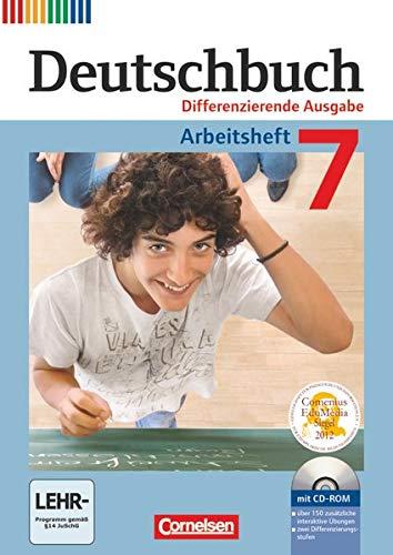 9783060626816: Deutschbuch 7. Schuljahr. Arbeitsheft mit Lösungen und Übungs-CD-ROM