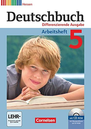 9783060628650: Deutschbuch 5. Schuljahr. Arbeitsheft mit L�¶sungen und �?bungs-CD-ROM. Differenzierende Ausgabe Hessen