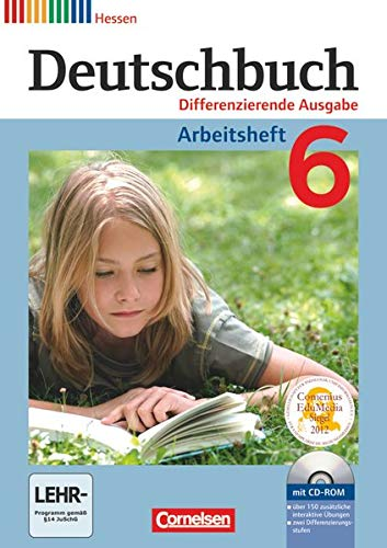 9783060628667: Deutschbuch 6. Schuljahr. Arbeitsheft mit Lösungen und Übungs-CD-ROM. Differenzierende Ausgabe Hessen