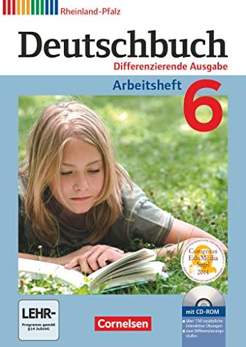 9783060628919: Deutschbuch 6. Schuljahr. Arbeitsheft mit Lösungen und Übungs-CD-ROM. Differenzierende Ausgabe Rheinland-Pfalz