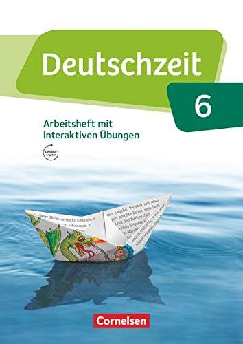 9783060632688: Deutschzeit 6. Schuljahr - Allgemeine Ausgabe - Arbeitsheft mit Lösungen und interaktiven Übungen