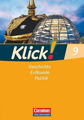 9783060646784: Klick! 9. Schuljahr. Arbeitsheft. Geschichte, Erdkunde, Politik. Östliche Bundesländer und Berlin