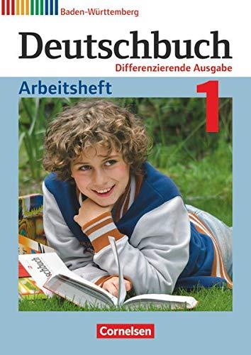9783060673681: Deutschbuch Band 1: 5. Schuljahr zum Bildungsplan 2016. Realschule Baden-Württemberg - Arbeitsheft mit Lösungen