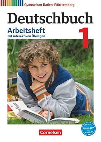 9783060674251: Deutschbuch Gymnasium Band 1: 5. Schuljahr - Bildungsplan 2016- Baden-Württemberg - Arbeitsheft mit Lösungen und interaktiven Übungen auf scook.de