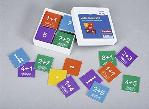 9783060800575: Mathematik plus - Lehrmittel Grundschule - Zick Zack Zahl: 1. Schuljahr - Zahlzerlegung im Zahlenraum bis 10: Lernspiel mit 70 Spielkarten. Mit Spielanleitung und didaktischen Hinweisen