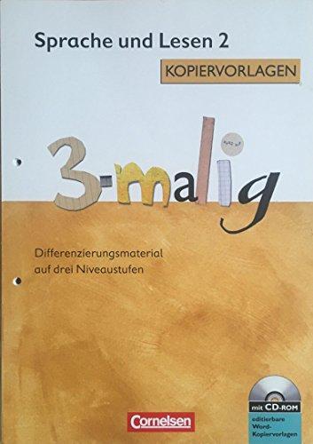 9783060806133: Sprache und Lesen 2 Kopiervorlagen 3-malig mit CD- Rom