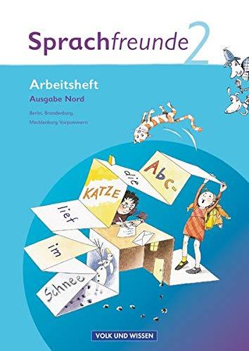 9783060807185: Sprachfreunde 2. Schuljahr. Arbeitsheft. Ausgabe Nord (Berlin, Brandenburg, Mecklenburg-Vorpommern)