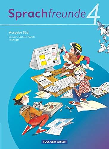 9783060809677: Sprachfreunde 4. Schuljahr. Sprachbuch Ausgabe Süd: Sachsen, Sachsen-Anhalt, Thüringen