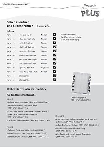 9783060824427: Deutsch plus - Lehrmittel Grundschule - Drehfix: 2./3. Schuljahr - Silbenzuordnung, Silbentrennung: Aufgabenkarten. 12 Karten