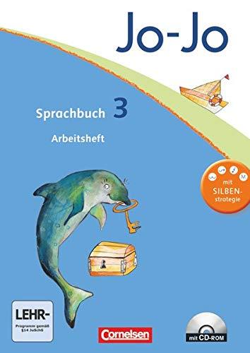 9783060826070: Jo-Jo Sprachbuch - Aktuelle allgemeine Ausgabe. 3. Schuljahr - Arbeitsheft mit CD-ROM