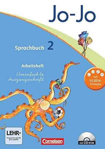 9783060827053: Jo-Jo Sprachbuch - Aktuelle allgemeine Ausgabe. 2. Schuljahr - Arbeitsheft in Vereinfachter Ausgangsschrift mit CD-ROM