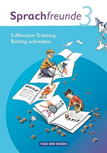 9783060827886: Sprachfreunde 3. Schuljahr. Ausgabe Nord/Süd. 5-Minuten-Training