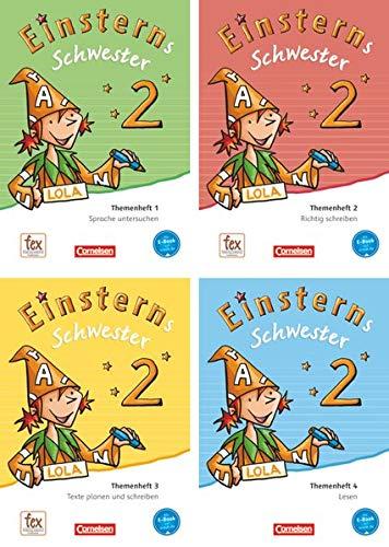 9783060835515: Einsterns Schwester - Sprache und Lesen 2. Schuljahr. Themenhefte 1-4 und Projektheft mit Schuber. Leihmaterial
