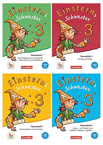 9783060835676: Einsterns Schwester - Sprache und Lesen 3. Schuljahr - Themenhefte 1-4 mit Projektheft im Paket