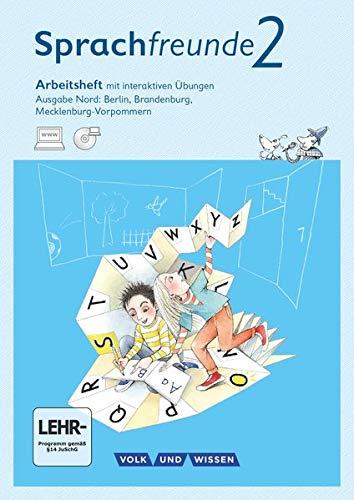 9783060836413: Sprachfreunde Ausgabe Nord 2. Schuljahr. Arbeitsheft mit Übungssoftware