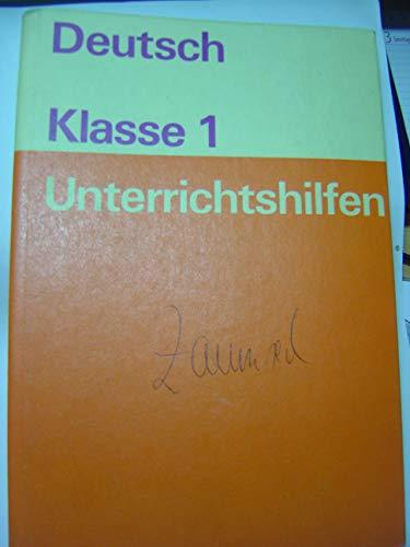 9783060920686: Unterrichtshilfen Deutsch Klasse 1
