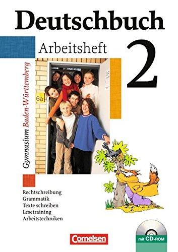 9783061000318: Deutschbuch Gymnasium 02. 6. Schuljahr. Arbeitsheft mit Lösungen und CD-ROM. Baden-Württemberg