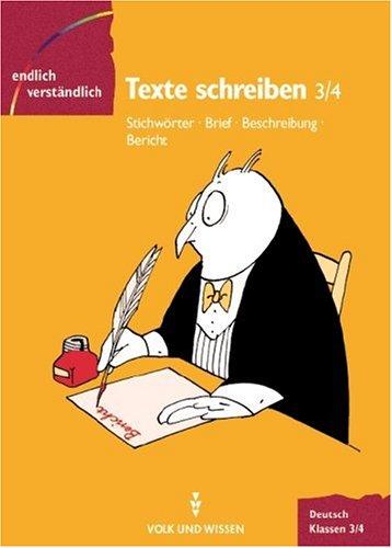 9783061060107: Endlich verständlich - Deutsch, neue Rechtschreibung, Texte verstehen, Klassen 3/4