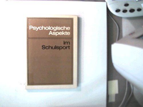 9783061625207: Psychologische Aspekte im Schulsport.