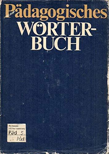 9783062027192: Padagogisches Worterbuch
