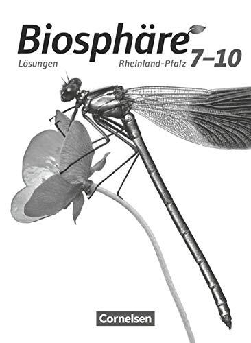 9783064201804: Biosphäre Sekundarstufe I 7.-10. Schuljahr. Lösungen zum Schülerbuch. Gymnasium Rheinland-Pfalz