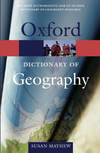 9783068005507: A Dictionary of Geography