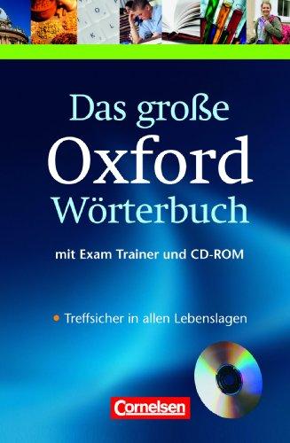 9783068013052: Das große Oxford Wörterbuch, Inkl. CD-ROM: Englisch-Deutsch/Deutsch-Englisch