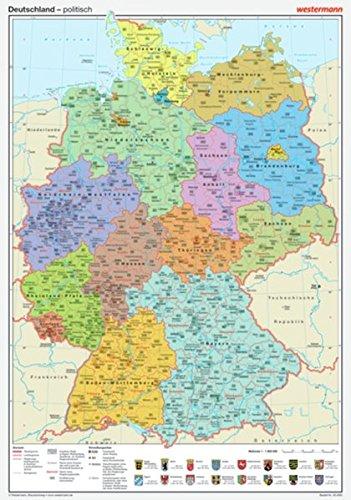 9783075020029: Posterkarten Geographie: Deutschland: politisch