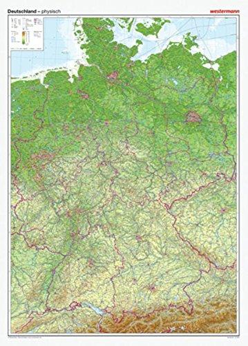 9783075020081: Posterkarten Geographie: Riesenposter Deutschland, physisch