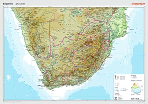 9783075020241: Posterkarten Geographie: S�dafrika: physisch