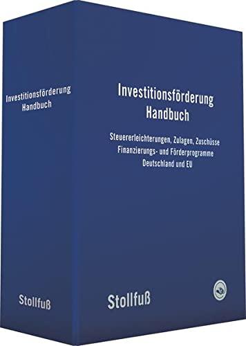 9783082560501: Investitionsförderung Handbuch