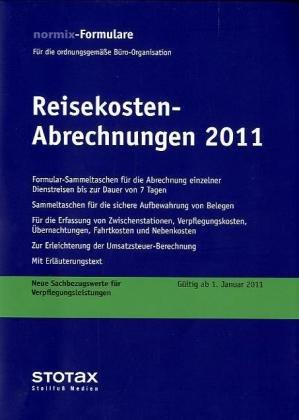 9783083118114: Reisekosten-Abrechnungen : Für 1-7 Tage, Formularblock 2011